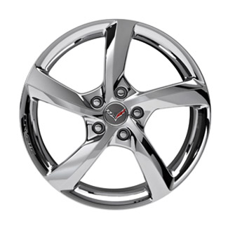 "20"" Wheel, Rear, Chrome 5 Spoke"