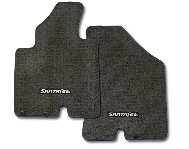 2010-2012 New Genuine Santa Fe Black Carpeted Floormat Set - Hyundai (08140-2B631-HZ)