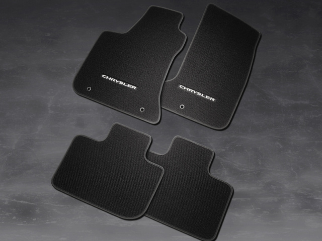 Berber Carpet Floor Mats - Black - Rwd