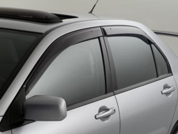 last set available 8/3/20 ! Genuine OEM Mitsubishi  EVO and Lancer Side Window Deflectors Door Visors - Mitsubishi (MZ562845EX)