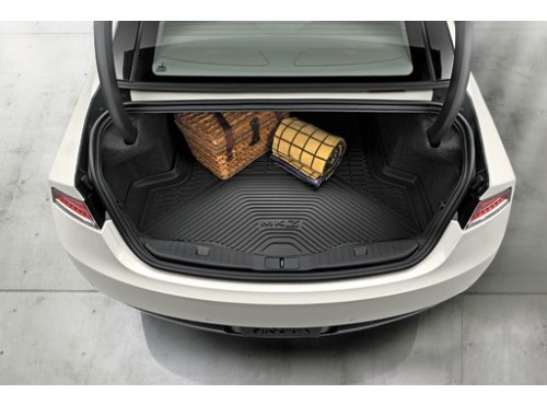 2012 - 2018 Lincoln MKZ | Rubber Cargo Area Protector | Floor Liner | Load Compartment | Black - Ford (DP5Z-6111600-AA)