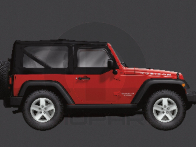 WRANGLER PRODUCTION SOFT TOP 2 DOOR STANDARD FABRIC BLACK