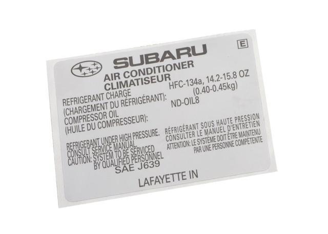 Label Air Conditioner No 1 Sia On Subaru Air Conditioning Diagram