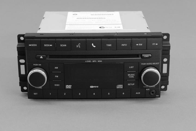 AM/FM 6-Disc CD/DVD Player (Req)