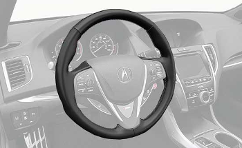 Steering Wheel, Heated - Acura (08U97-TZ3-210A)
