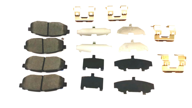 REAR BRAKE PAD SET W/HARDWARE & SHIMS - Subaru (26696SG000)