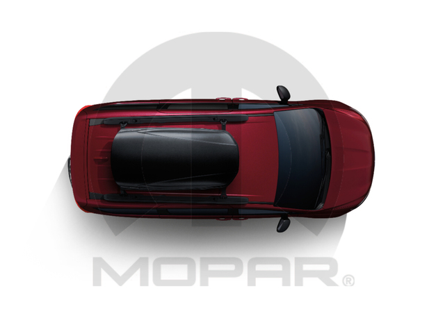 Roof Box Cargo Carrier , Black, 31in X 71in - Mopar (TCBOX624)