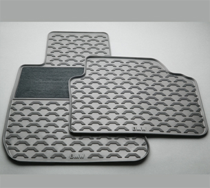 Rubber Floor Mats With Carpeted Heel Pad