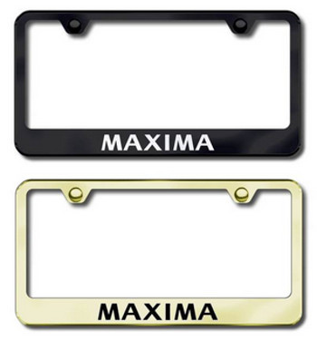 License Plate Frame, Maxima - Nissan (999MB-M4001B) | Courtesy Parts