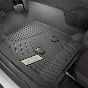 Floor Liners, All Weather, Front, Black