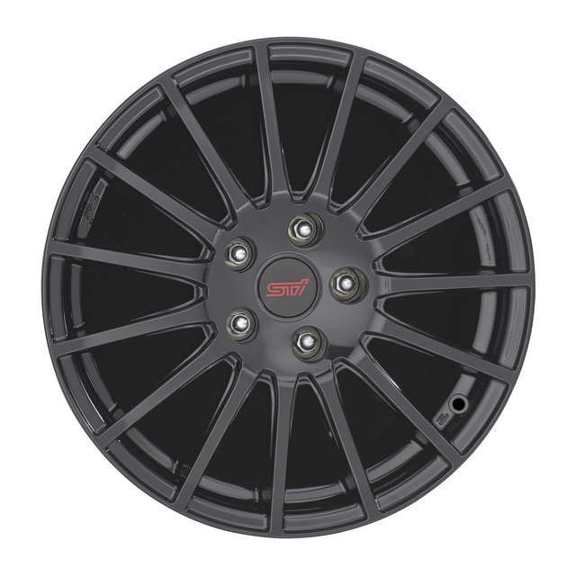 2015 subaru impreza wrx sti alloy wheel rim 17 set of 4 black oem new subaru b3110va000. Black Bedroom Furniture Sets. Home Design Ideas