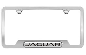 License Plate Frame, Polished, Jaguar Logo - Jaguar (C2A1173)