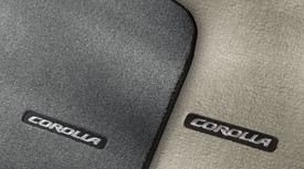 COROLLA CARPET FLOOR MATS 4PC BROWN 2010-2013 MODEL