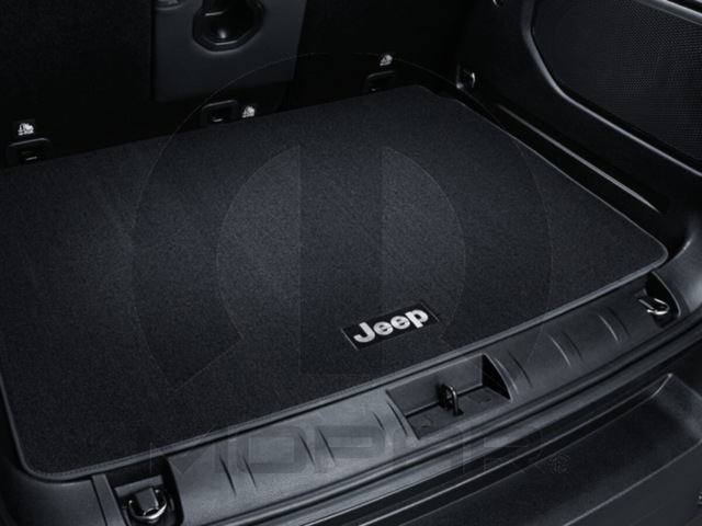 Premium Carpet Cargo Mat - Black - Jeep Logo