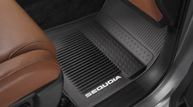 Floor Mats, All-Weather, Third Row, Black
