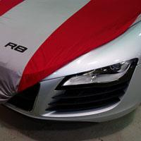 Indoor Car Cover - Red/Silver - Audi (ZAW-400-150-RD)