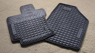 Floor Mats, All-Weather, Front Set, Black - Toyota (PT908-0T10W-02)