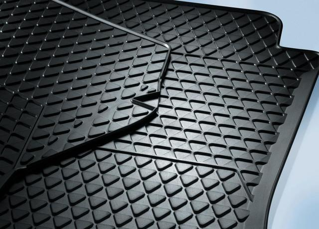 Rubber Floor Mats Euro, Front - Black