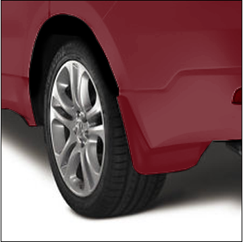 Splash Guards, Rear A-Spec, San Marino Red - Acura (08P09-TZ3-280B)