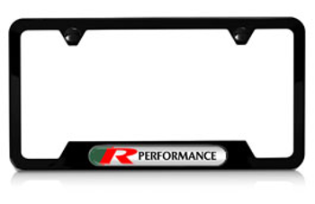 License Plate Frame, Black - Jaguar (C2C20093-FP)