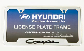 License Plate Frame, Chrome Plated