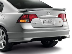 2003 2011 Honda Spoiler Rear Under Nh737m Polished Metal
