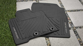Land Cruiser All Weather Mats Brown