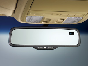 Mirror, Auto-Dimming, W/Compass