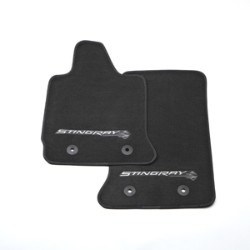 Premium Carpet - Stingray Logo, Black with Gray Stitching - GM (22801666)