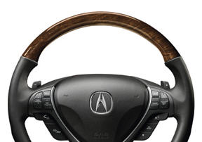 Steering Wheel, Wood-Grain