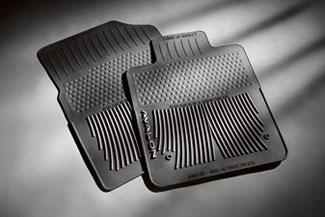 Floor Mats, All-Weather, Front Set, Black