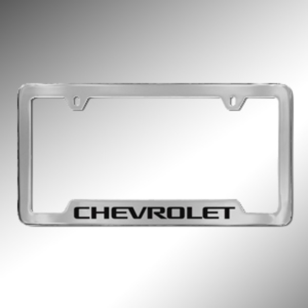 License Plate Frame, Chevrolet, Chrome