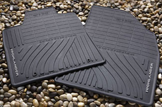 4PC All Weather Mats Black Highlander