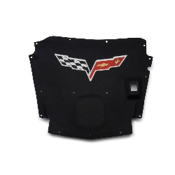 Under Hood Liner, Corvette Color Flag Logo