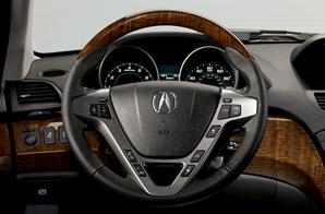 Steering Wheel, Wood Grain