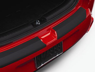 Bumper, Rear, Appliqu?, Black