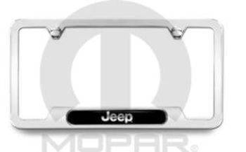 License Plate, Frame, Jeep Logo - Mopar (82213251AB)