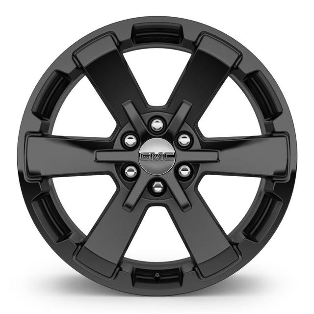"22"" Wheel, 6-Spoke, High Gloss Black"