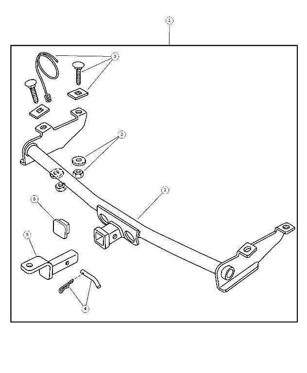 Receiver Kit, Trailer Tow, Bezel Package