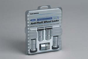 Wheel Locks, Zinc Plated For Hidden Lugs - Ford (3C3Z-1A043-AA)