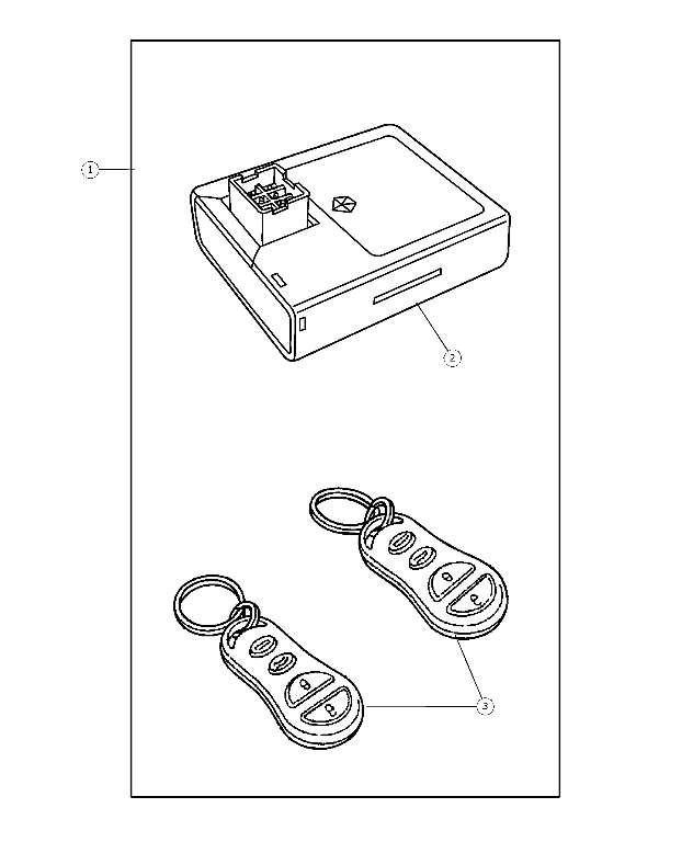 2003 2005 Dodge Factory Keyless Entry Module Package 82207153