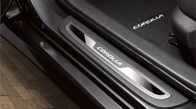 Door Sill Enhancements, Corolla Logo