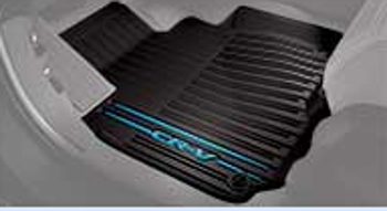 Floor Mats, All-Weather, Blue Logo - Honda (08P17-TLA-120A)