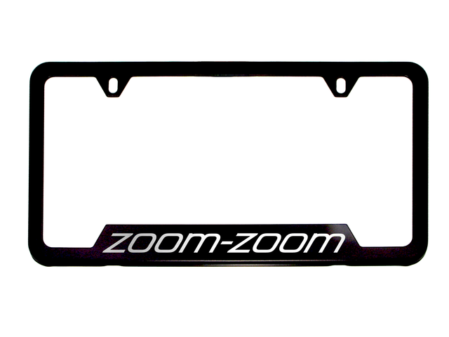License Plate Frame, Zoom-Zoom Logo