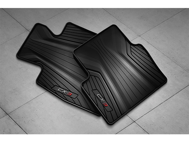 Floor Mats, All Weather Rubber (2016-2020 CX-3) 'Plenty in Stock' - Mazda (0000-8B-S02)