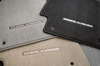 Floor Mats, Carpet, Set Of Three, Black