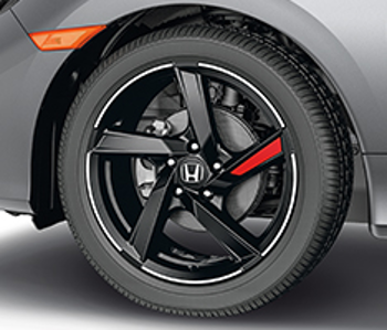 Wheel Decal, Red - Honda (08W18-TBA-180C)