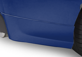 Splash Guards Rear Aero, Lapis Blue