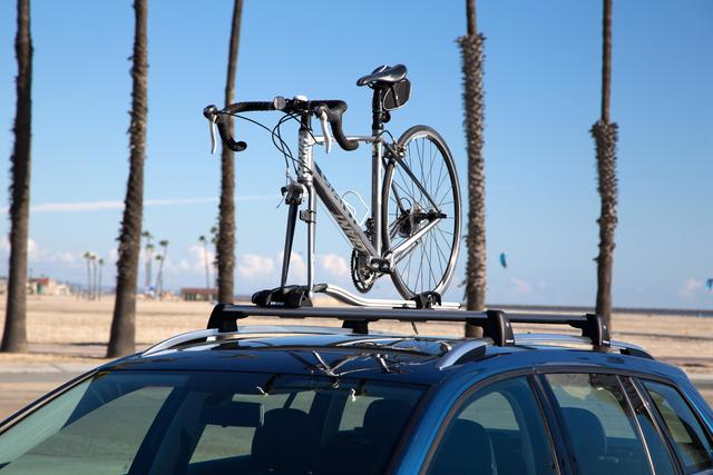 Bike Carrier - Fork Mount Style - Silver