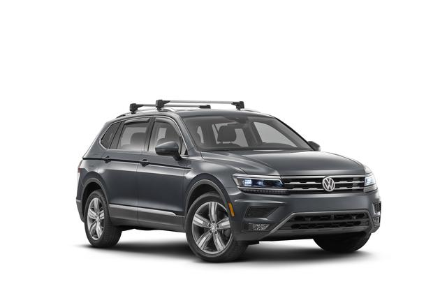 2018-2019 VW Volkswagen Tiguan Roof Rack Base Carrier Cross Bars OEM NEW - Volkswagen (5nl071151)